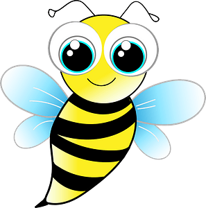 Friendly bee clipart