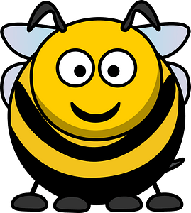 Cartoon bee clipart