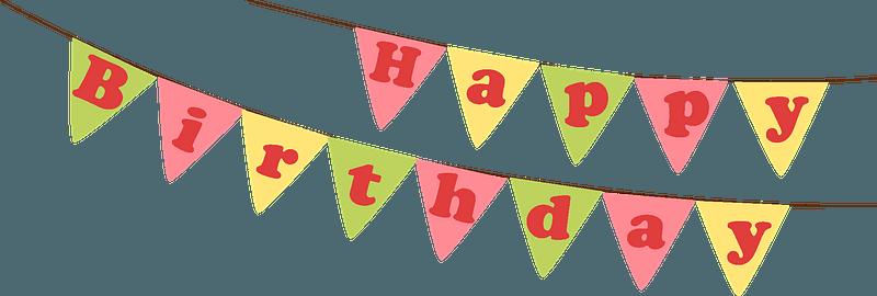 Birthday bunner clipart