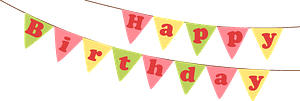 Birthday bunner clipart
