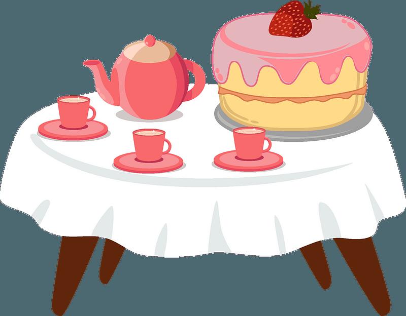 Birthday table clipart