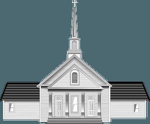 Church - Black and White clipart