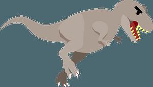 Running Gray T-Rex clipart