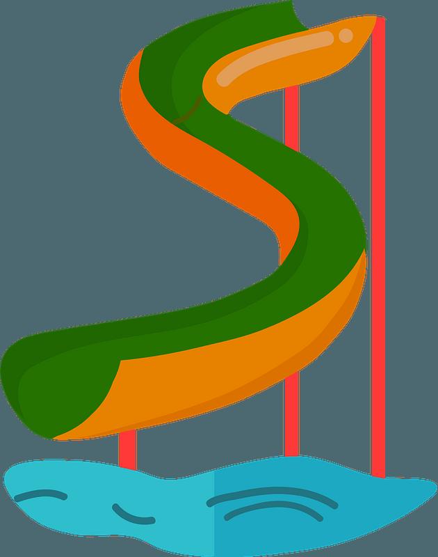 Water slide clipart