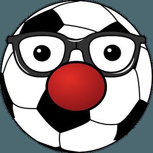 Clowny Soccer Ball clipart