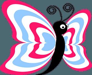 Cartoon butterfly clipart
