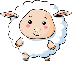 Cute lamb clipart