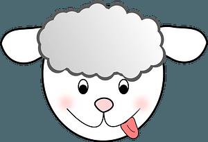 Funny lamb face clipart