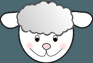 Smiling lamb face clipart