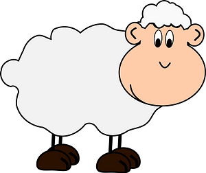 Cartoon lamb clipart