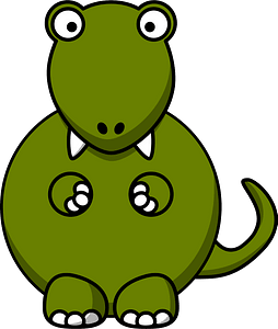 Tyrannosaurus Rex with Big Eyes and Fangs clipart