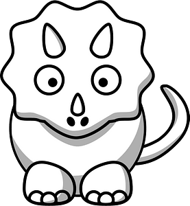 White Triceratops clipart