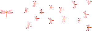Red Dragonflies clipart