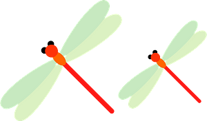 Red Dragonfly Insect clipart