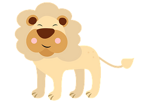 Happy lion 剪贴画