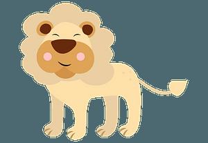 Happy lion immagine clipart