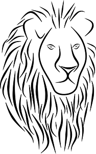 Testa di leone immagine clipart