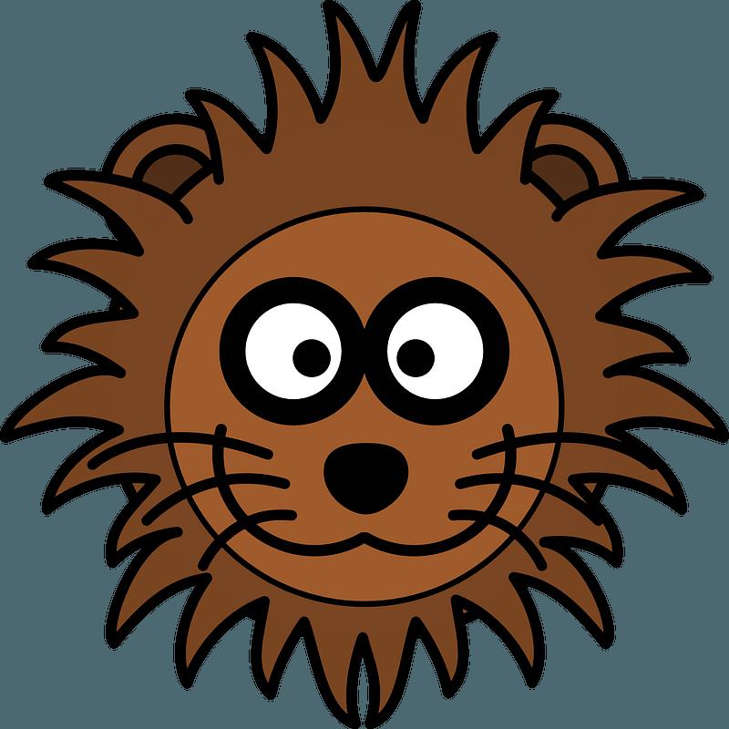 Cartoon lion face 클립 아트