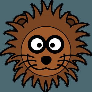 Cartoon lion face clipart