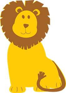 可爱的狮子 剪贴画