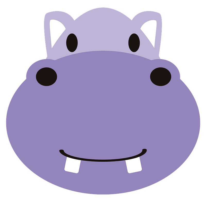 Cute hippo face clipart. Free download transparent .PNG ...