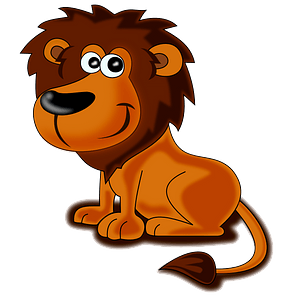 Friendly lion 클립 아트