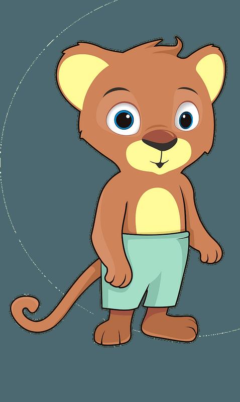 Cartoon baby lion 클립 아트