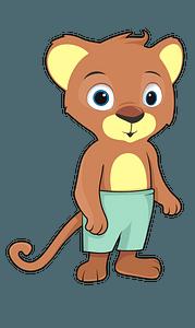 Cartoon baby lion clipart