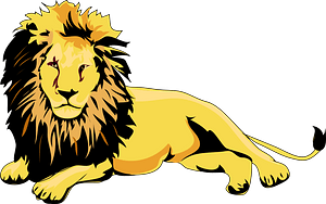 Lying lion clipart