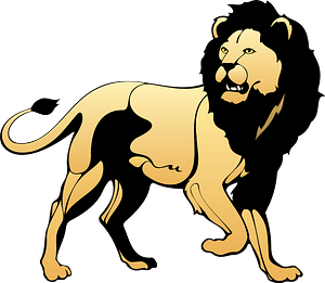 Walking lion immagine clipart