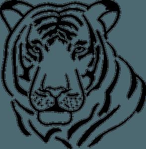 Tiger head 클립 아트