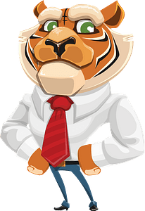 Tiger businessman 클립 아트