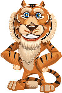 Cartoon tiger 클립 아트
