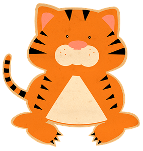 Cartoon tiger clipart