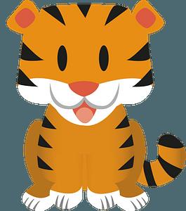Cute baby tiger 클립 아트