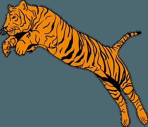 Jumping tiger 클립 아트