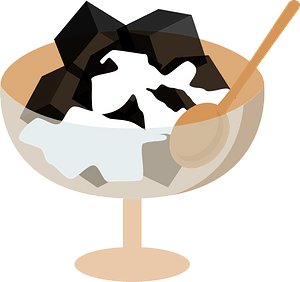 Coffee Jelly Dessert clipart