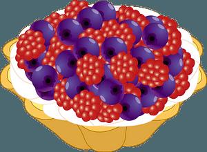 Berry Tart Dessert clipart