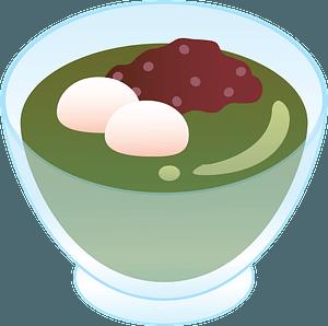 Green Tea Jelly Dessert clipart