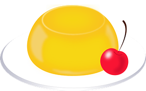 Orange Jelly Dessert clipart