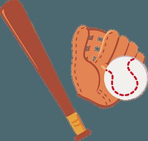 Baseball, Glove, and Bat clipart