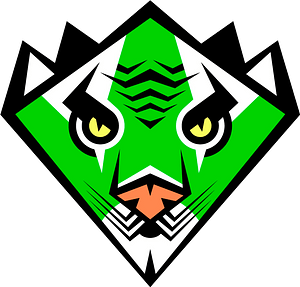 Stylized tiger face 클립 아트