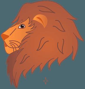 Cartoon lion head 클립 아트