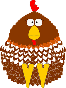 Cartoon chicken clipart