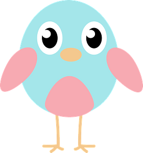 Blue chick clipart