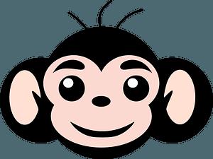 Friendly monkey face clipart