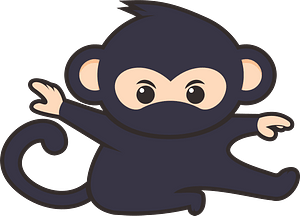 Monkey ninja clipart