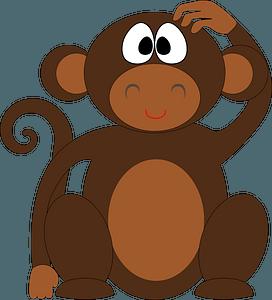 Funny monkey clipart