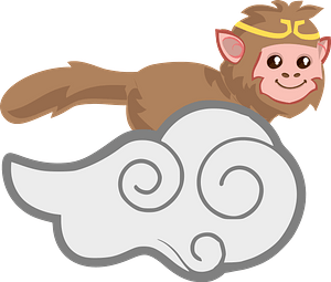 Monkey king clipart