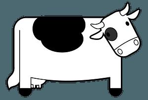 Cute cow clipart